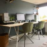 Werkplek metamorfose deel 1: DIY Bureau & Zuiver stoelen