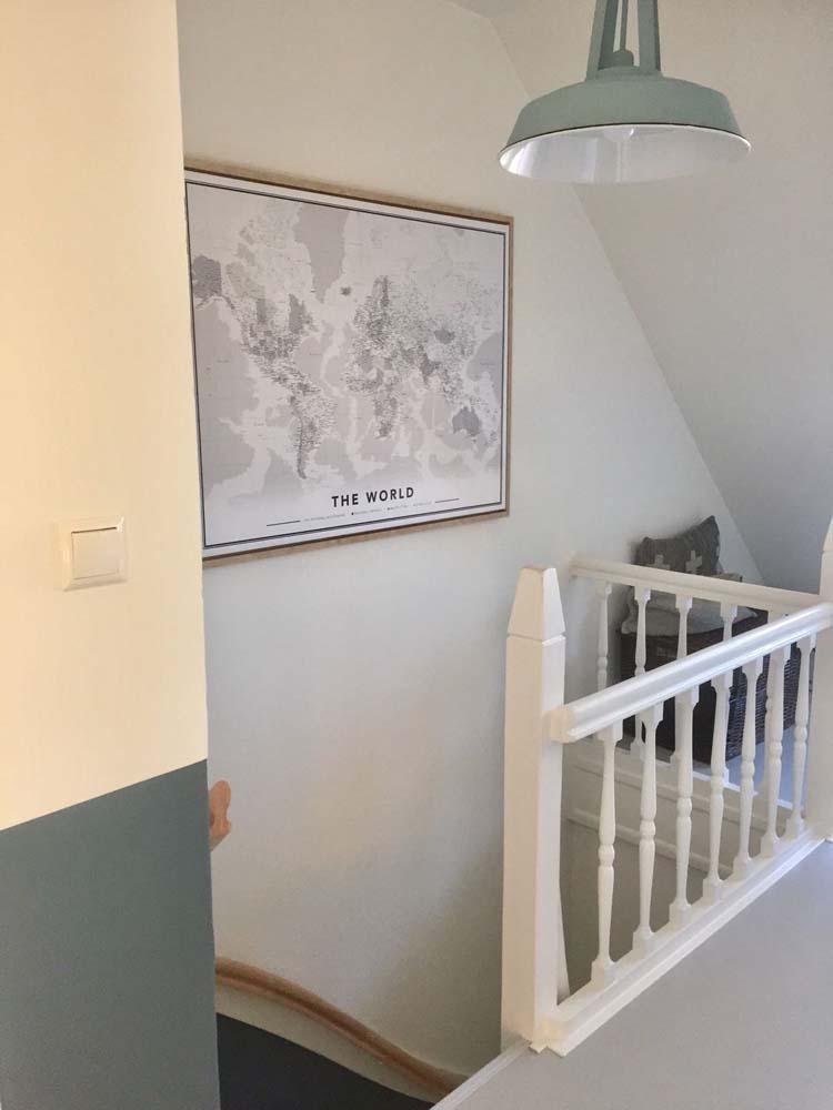 wereldkaart trappengat