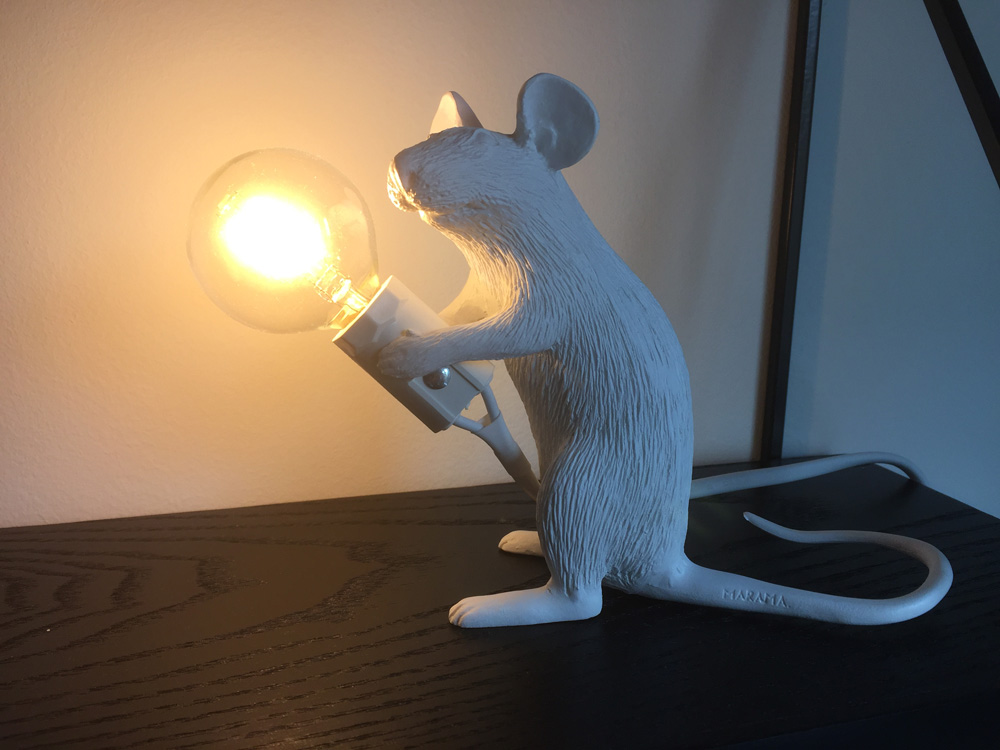 mouse lamp aan