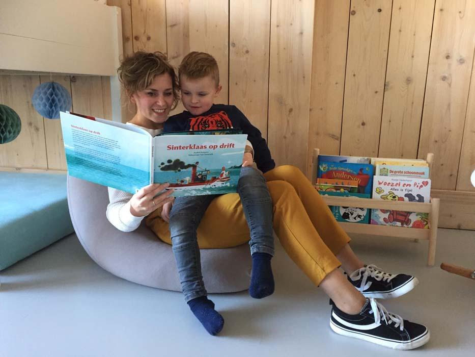 boek lezen kinderzitzak