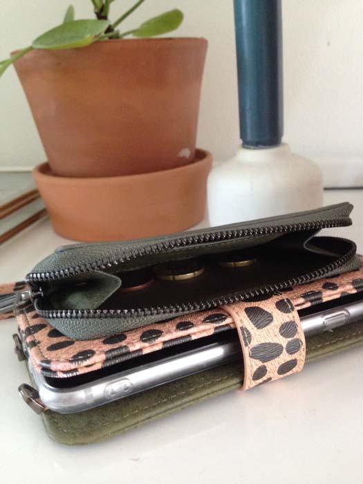 telefoonhoesje en portemonnee