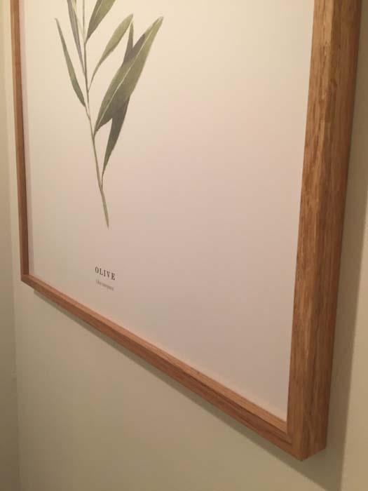 olijftak op poster aan de wand