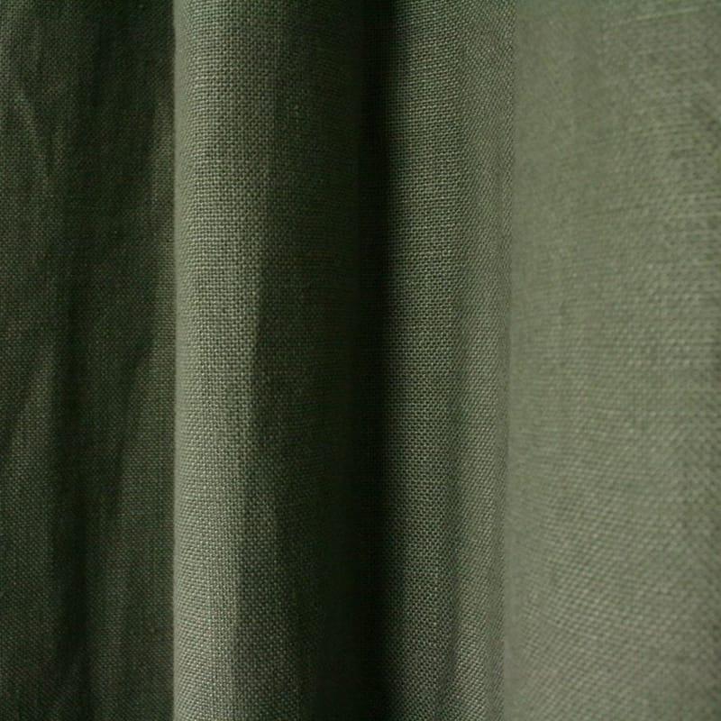 grijs groen linnen gordijn