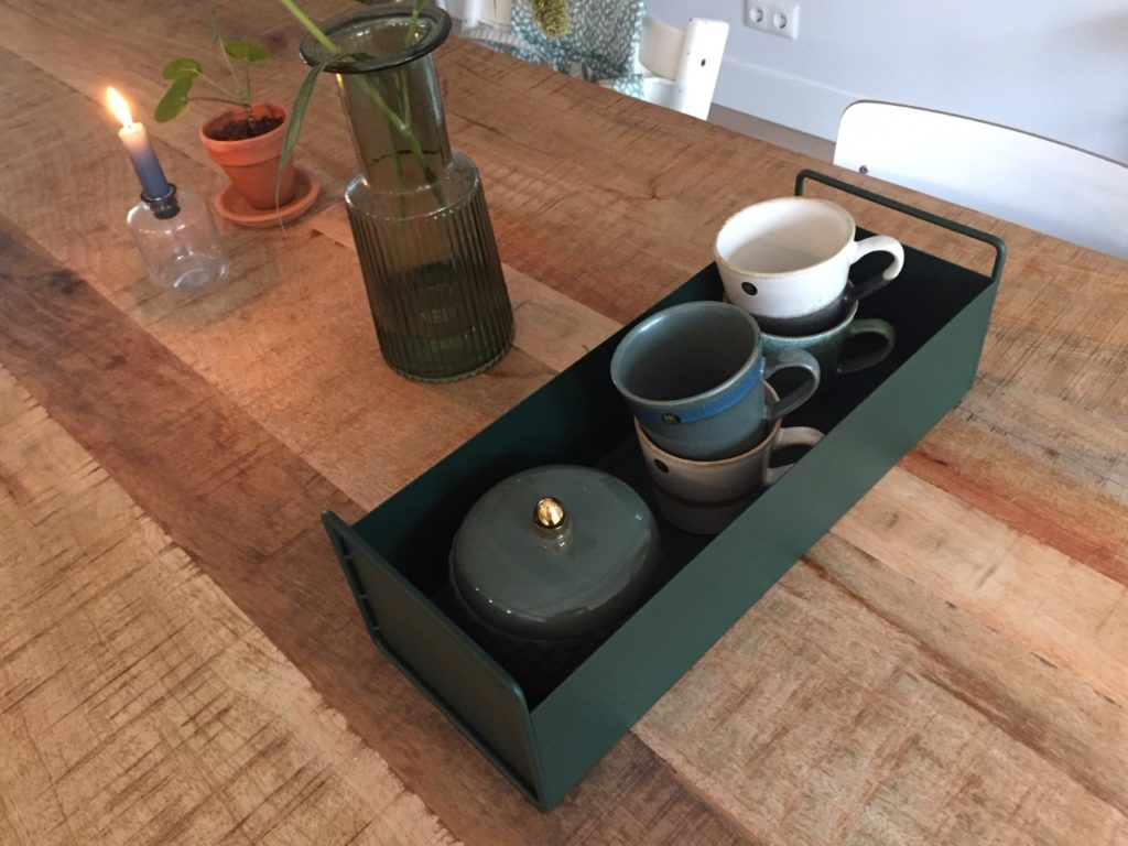 plantenbox op tafel