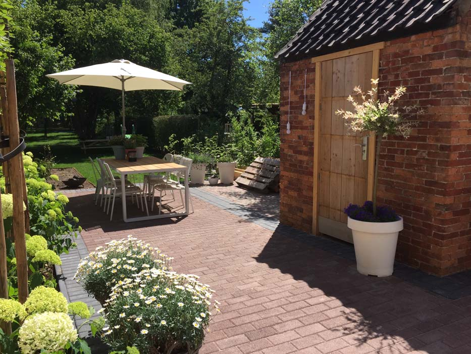 schuur tuin na verbouwing