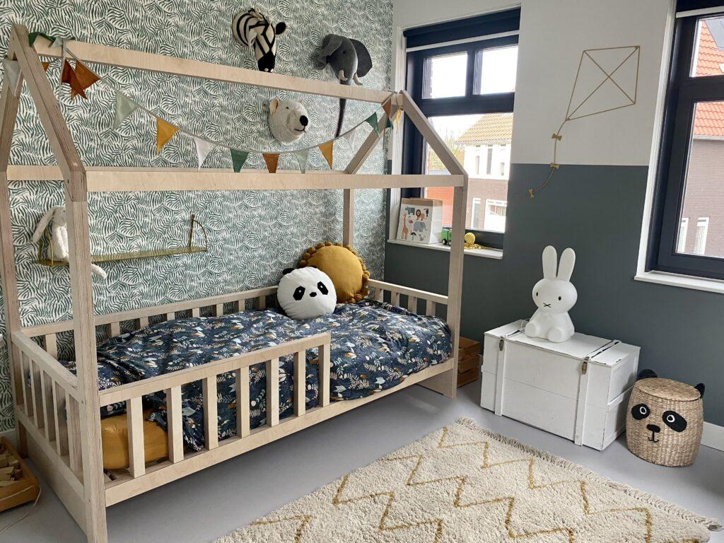 houten bedhuisje stoere jongenskamer